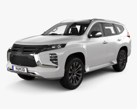 3D model of Mitsubishi Pajero Sport with HQ interior 2019