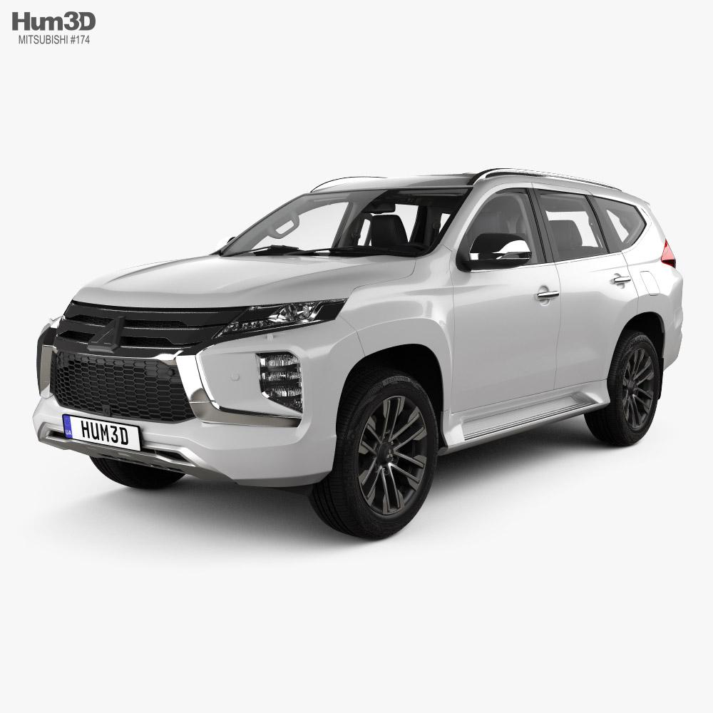 Mitsubishi Pajero Sport with HQ interior 2019 3D model