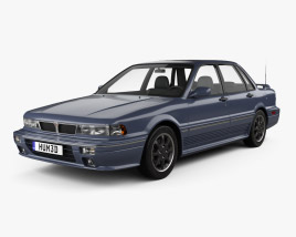 3D model of Mitsubishi Galant VR-4 1989