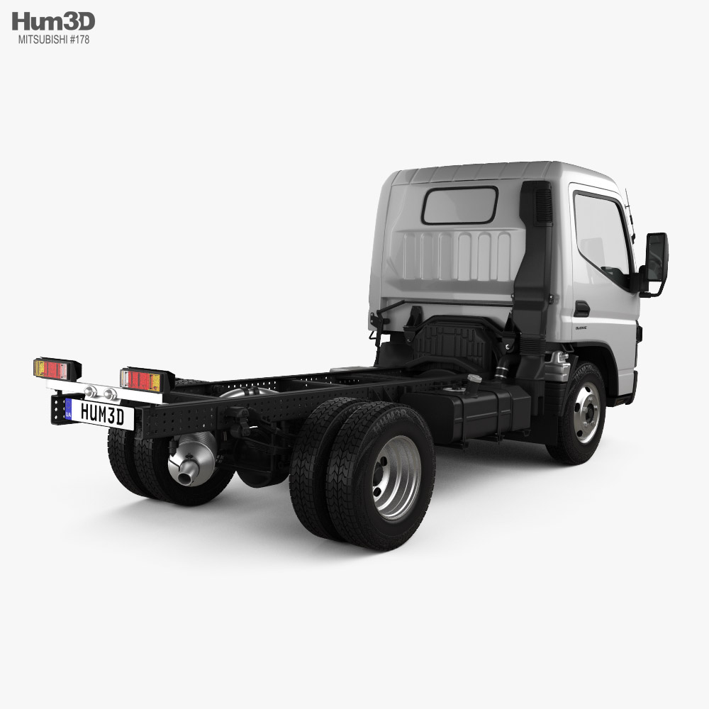 Mitsubishi Fuso Canter Superlow City Cab Chassis Truck L1 2016 3d model back view
