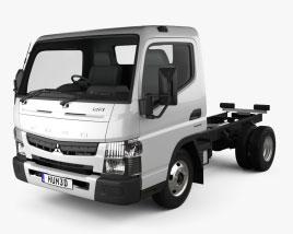 Mitsubishi Fuso Canter Wide Single Cab Chassis Truck L1 2016 3D model