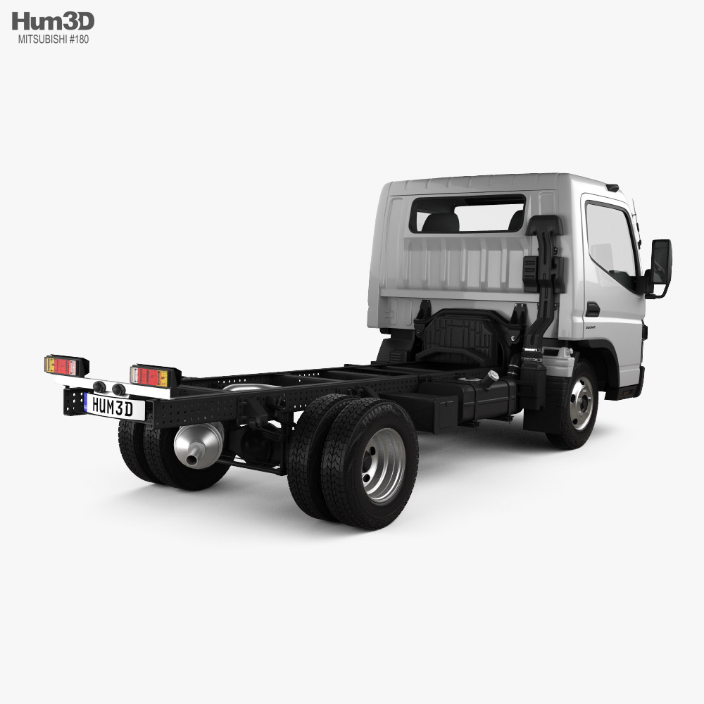 Mitsubishi Fuso Canter Wide Single Cab Chassis Truck L2 2016 3d model back view