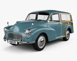 3D model of Morris Minor 1000 Traveller 1956