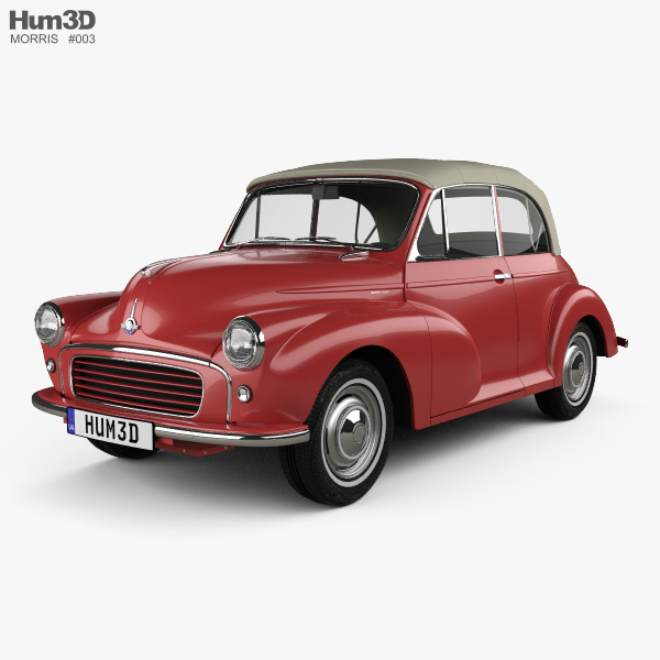 3D model of Morris Minor 1000 Tourer 1956