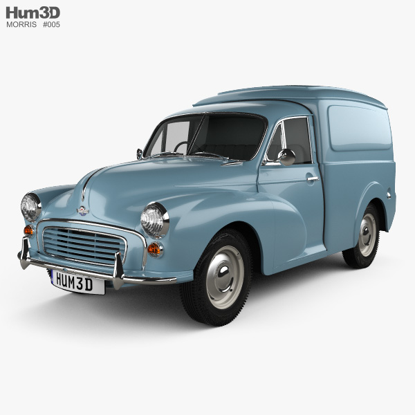 3D model of Morris Minor Van 1955