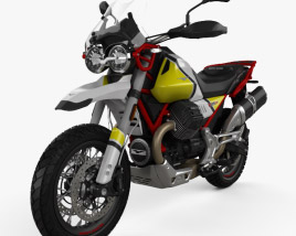 3D model of Moto Guzzi V85 Tutto Terreno 2019