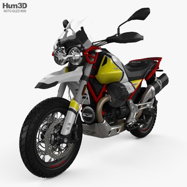 3D model of Moto Guzzi V85 Tutto Terreno 2019