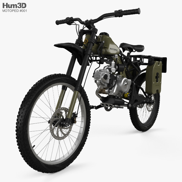Motoped Survival Bike 2016 3D model