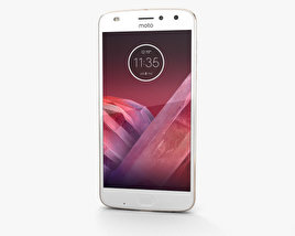 3D model of Motorola Moto Z2 Play Fine Gold