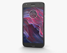 3D model of Motorola Moto X4 Super Black