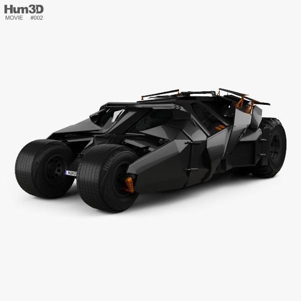 3D model of Batmobile Tumbler 2005