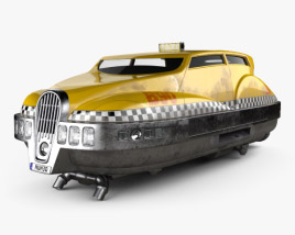 3D model of Fifth element taxi 1997