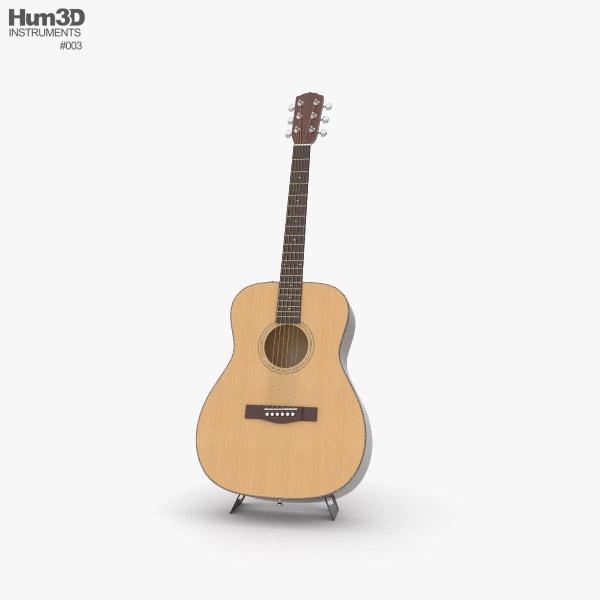 3D model of Acoustic Guitar