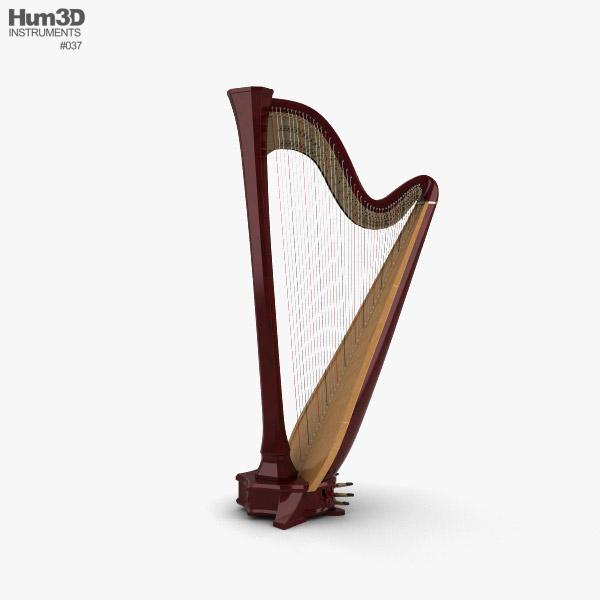 Harpe Modèle 3D