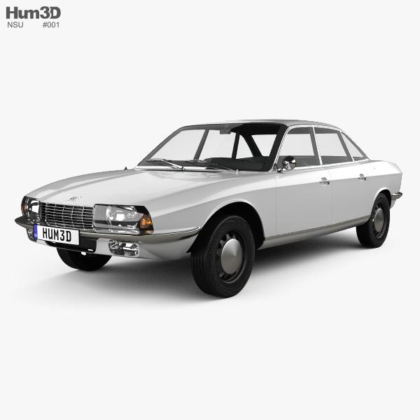 3D model of NSU Ro 80 1967