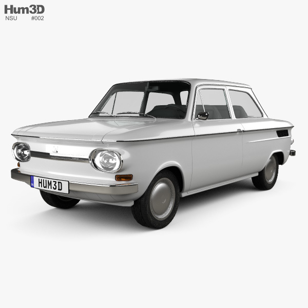 3D model of NSU Prinz 1000 1961