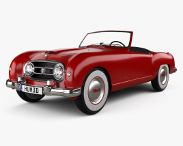 3D model of Nash Healey Roadster 1952