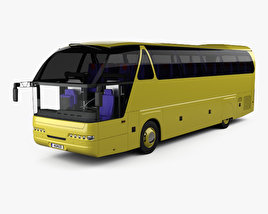 3D model of Neoplan Starliner N 516 SHD Bus with HQ interior 1995