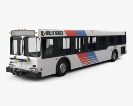 3D model of New Flyer D40LF Bus 2010