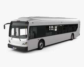 3D model of New Flyer Xcelsior Bus 2016
