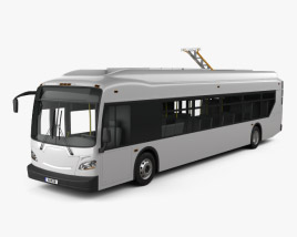 3D model of New Flyer Xcelsior Electric Bus 2016