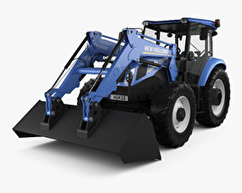 3D model of New Holland TD5 Loader Tractor 2017