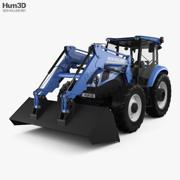 New Holland TD5 Loader Tractor 2017 3D model