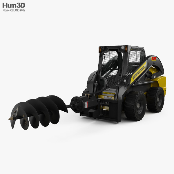 New Holland L225 Skid Steer Auger 2017 3D model