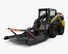3D model of New Holland L225 Skid Steer Brush Cutter 2017