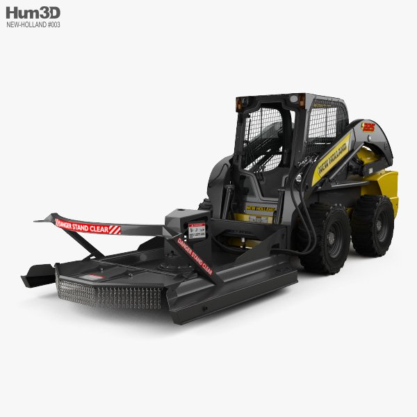 New Holland L225 Skid Steer Brush Cutter 2017 3D model