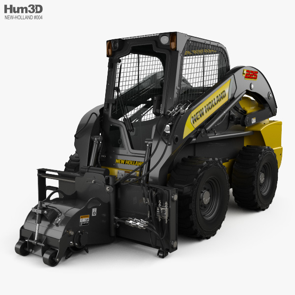 New Holland L225 Skid Steer Cold Planer 2017 3D model