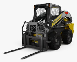3D model of New Holland L225 Skid Steer Fork 2017