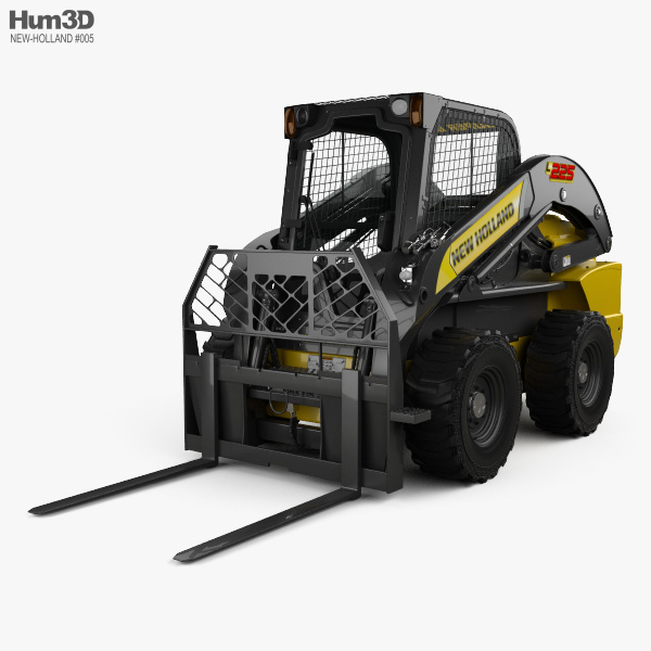 New Holland L225 Skid Steer Fork 2017 3D model