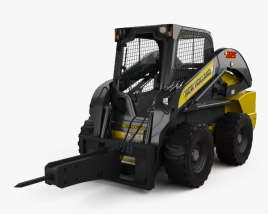 3D model of New Holland L225 Skid Steer Hydraulic Breaker 2017