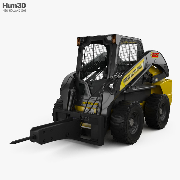 New Holland L225 Skid Steer Hydraulic Breaker 2017 3D model