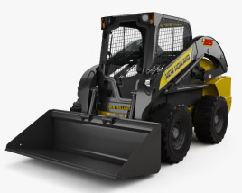3D model of New Holland L225 Skid Steer Loader 2017