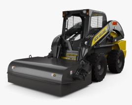 3D model of New Holland L225 Skid Steer Sweeper 2017