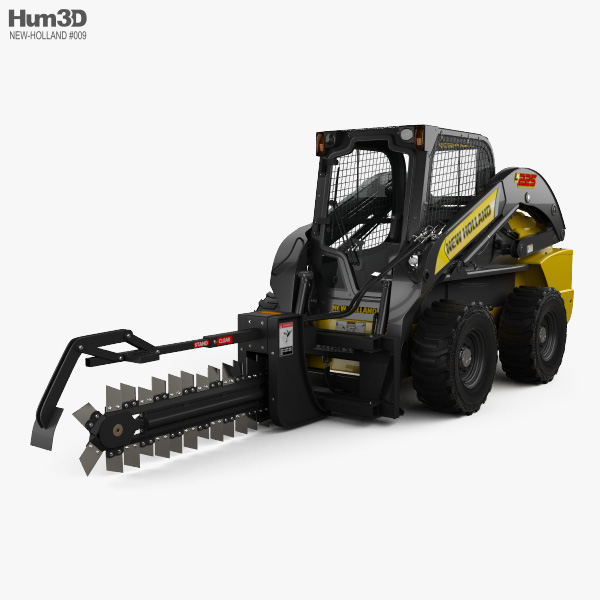 New Holland L225 Skid Steer Trencher 2017 3D model