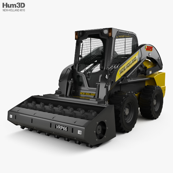 New Holland L225 Skid Steer Vibratory Roller 2017 3D model