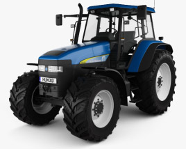 3D model of New Holland TM 140 2019