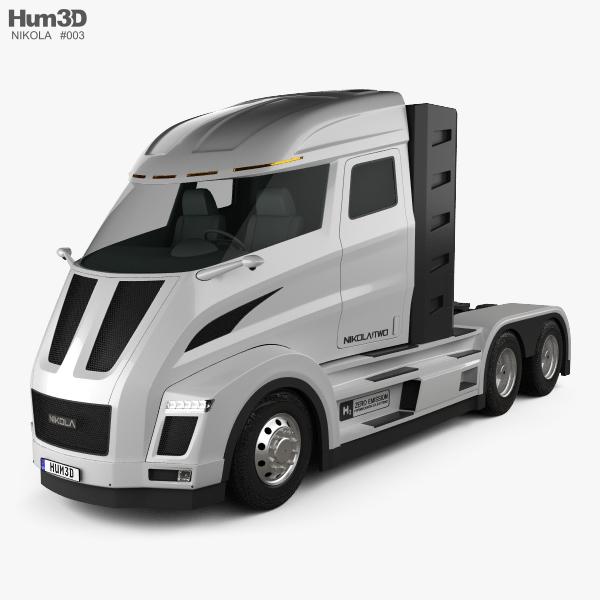Nikola Two Tractor Truck 2017 3D model