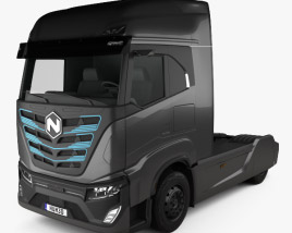 3D model of Nikola TRE Tractor Truck 2020