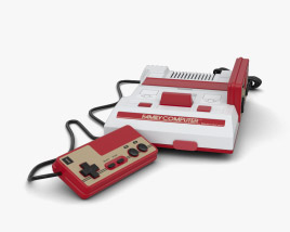 3D model of Nintendo Famicom