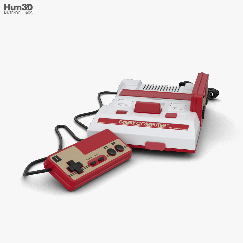 Nintendo Famicom 3D model