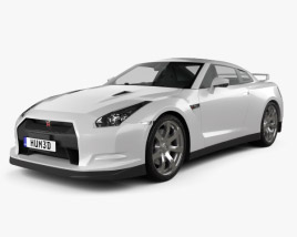 3D model of Nissan GT-R 2010