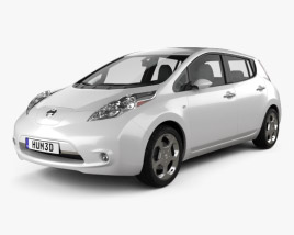3D model of Nissan LEAF 2011