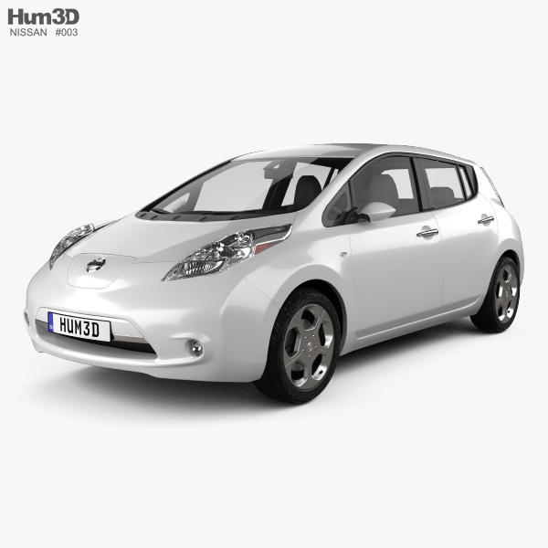 3D model of Nissan LEAF 2011