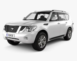 3D model of Nissan Patrol 2011