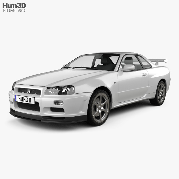 3D model of Nissan Skyline R34 GT-R coupe 1999