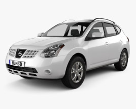 3D model of Nissan Rogue 2011